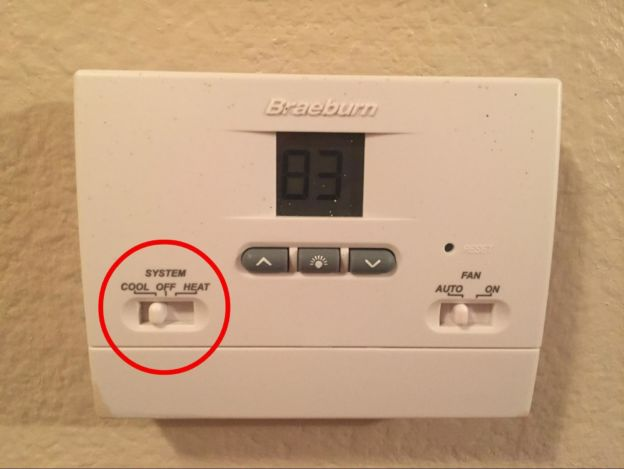 Thermostat set to AUTO instead of ON