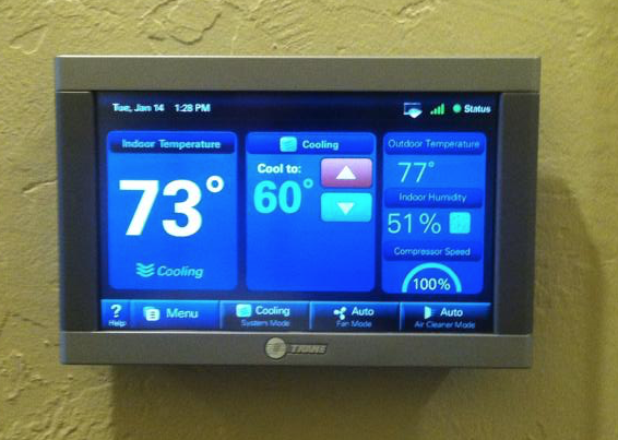 unobstructed thermostat